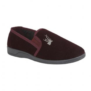 Lotus Mens Jaxon Burgundy Slippers